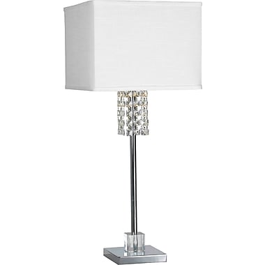 Kenroy Home Bedazzle Table Lamp, Chrome Finish