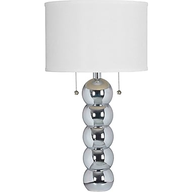 Kenroy Home Bolero Table Lamp, Chrome Finish