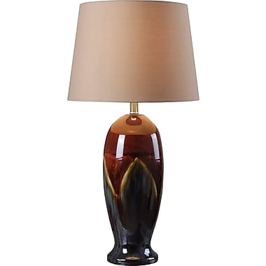 Kenroy Home Lavo Table Lamp, Ceramic Glaze Finish