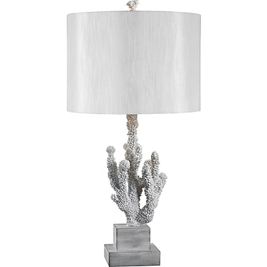 Kenroy Home Coral Table Lamp, White Coral Finish