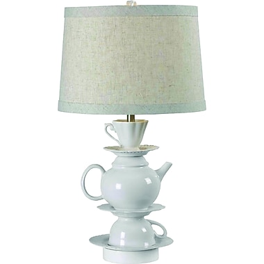 Kenroy Home Teatime Table Lamp, White Finish