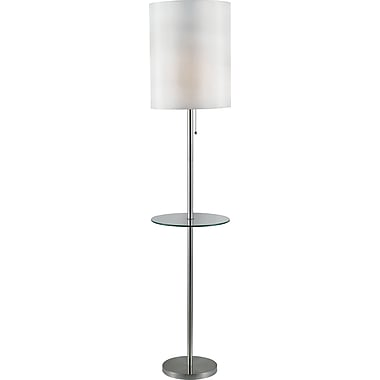 Kenroy Home Exhibit Floor Lamp, Brushed Steel Finish