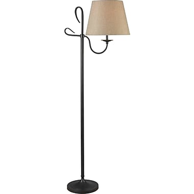 Kenroy Home Cromwell Floor Lamp, Golden Flecked Bronze Finish