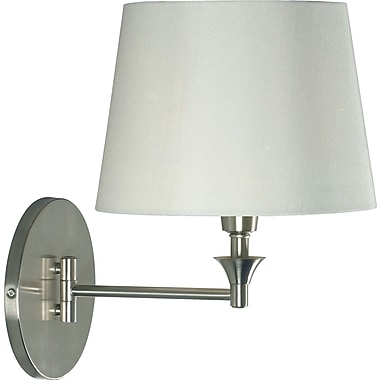 Kenroy Home Martin Wall Swing Arm Lamp, Brushed Steel Finish