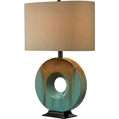 Kenroy Home Sesame Table Lamp, Ceramic Glaze Finish