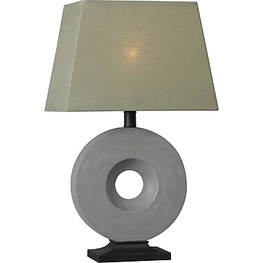 Kenroy Home Neolith Outdoor Table Lamp, Concrete Finish