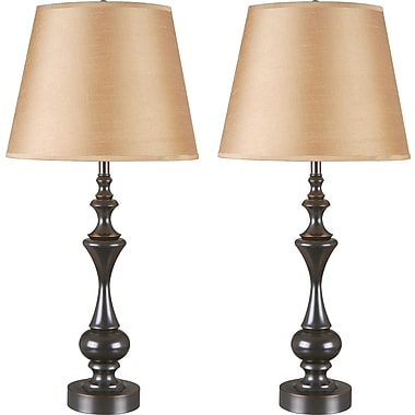 Kenroy Home Stratton II Table Lamp, Oil Rubbed Bronze Finish