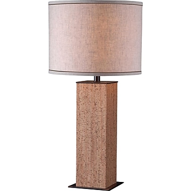 Kenroy Home Corkage Table Lamp, Natural Cork Finish