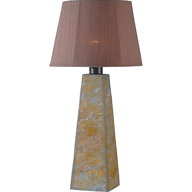 Kenroy Home Sleek Outdoor Table Lamp, Natural Slate Finish