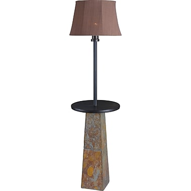 Kenroy Home Sleek Outdoor Floor Lamp, Slate Finish