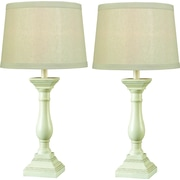 Kenroy Home Renew Table Lamp, Antique White Finish