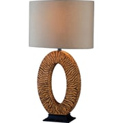 Kenroy Home Burl Table Lamp, Striated Black and Tan Finish