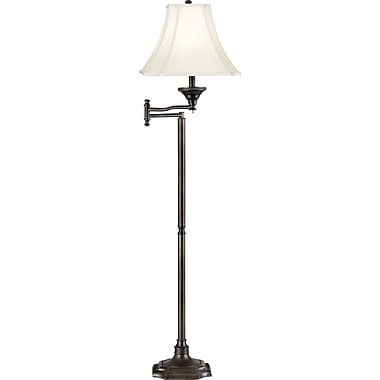 Kenroy Home Wentworth Swing Arm Floor Lamp, Burnished Bronze Finish
