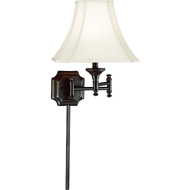 Kenroy Home Wentworth Wall Swing Arm Lamp, Burnished Bronze Finish
