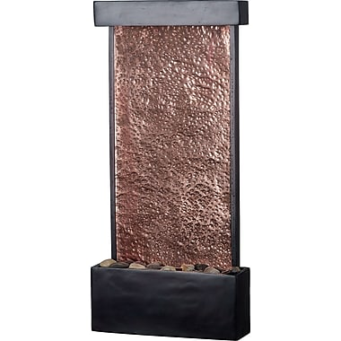 Kenroy Home Falling Water Wall/Table Fountain, oil Rubbed Bronze Finish w/Natural Hammered Copper