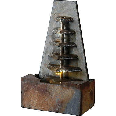Kenroy Home Patience Table Top Fountain, Natural Slate Finish