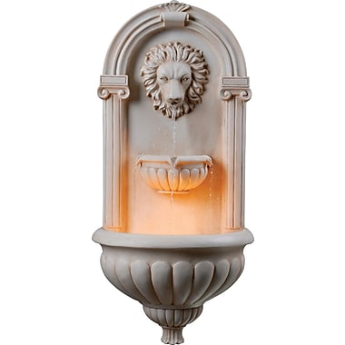 Kenroy Home Regal Wall Fountain, Sandstone Finish