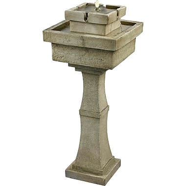 Kenroy Home Cadet Outdoor Solar Floor Fountain, Sandstone Finish