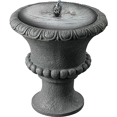 Kenroy Home Garden Urn Solar Table Top Fountain, Concrete Finish