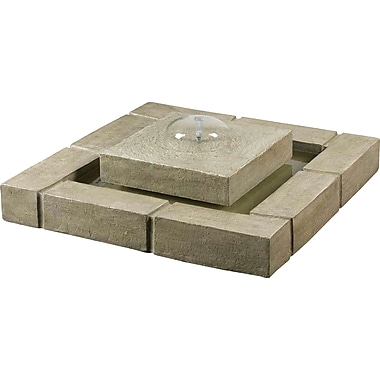 Kenroy Home Belgian Block Floor Fountain, Sandstone Finish
