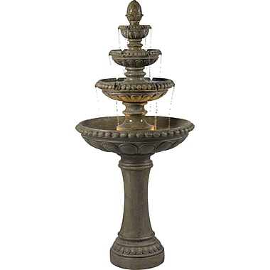 Kenroy Home Rialto Outdoor Floor Fountain, Tuscan Earth Finish