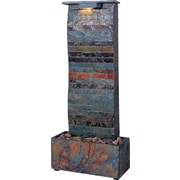 Kenroy Home Curvature Table/Wall Fountain, Natural Slate Finish