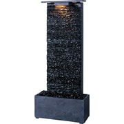 Kenroy Home Bedrock Falls Table/Wall Fountain, Natural Grey Slate Finish
