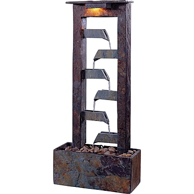 Kenroy Home Aqueduct Table Fountain, Natural Slate Finish