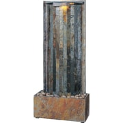 Kenroy Home Waterwall Table/Wall Fountain, Natural Slate Finish