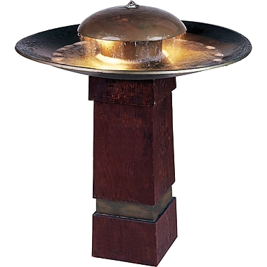 Kenroy Home Portland Sound Floor Fountain, Copper Finish