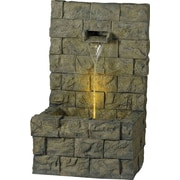 Kenroy Home Garden Wall Outdoor Floor Fountain, Concrete Finish