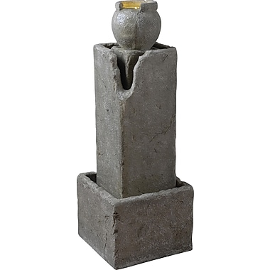 Kenroy Home Eon Indoor/Outdoor Floor Fountain, Weathered Stone Finish