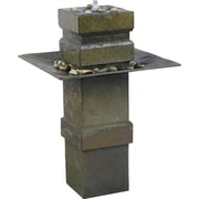 Kenroy Home Cubist Floor Fountain, Natural Slate Finish