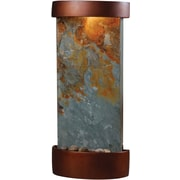 Kenroy Home Midstream Table/Wall Fountain, Natural Slate Finish with Copper Finish Accents