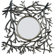 Kenroy Home Bramble Wall Mirror, Distressed Gold Finish with Silver Accents
