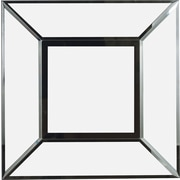 Kenroy Home Cubic Wall Mirror, Black Finish