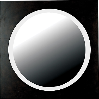 Kenroy Home Eclipse Wall Mirror, Dark Walnut Finish