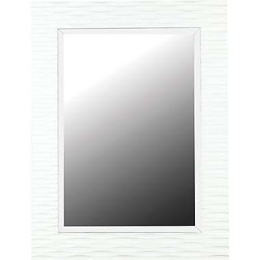 Kenroy Home Kendrick Wall Mirror, Gloss White Finish