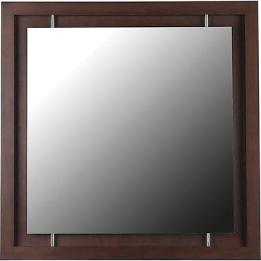 Kenroy Home Potrero Wall Mirror, Mahogany Finish