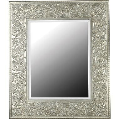 Kenroy Home Lafayette Wall Mirror, Gilded Antique Silver Finish
