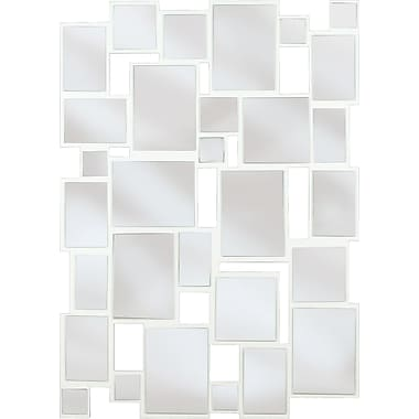 Kenroy Home Hockney Wall Mirror, Gloss White Finish
