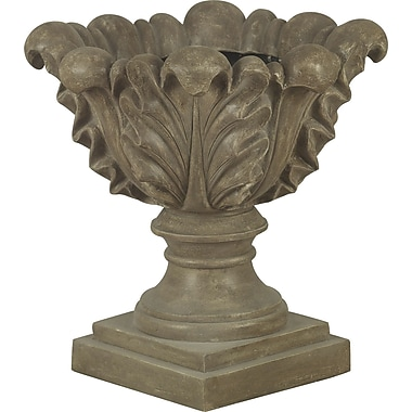 Kenroy Home Garden Scroll Leaf Planter, Tuscan Earth Finish