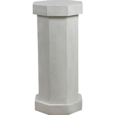 Kenroy Home Garden Octagonal Facet Pedestal, Roman White Finish