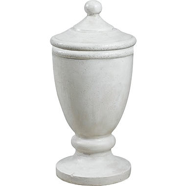 Kenroy Home Garden Covered Urn, Roman White Finish