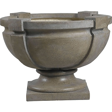 Kenroy Home Garden Square Strap Urn, Tuscan Earth Finish