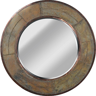 Kenroy Home Keene Wall Mirror, Natural Slate Finish