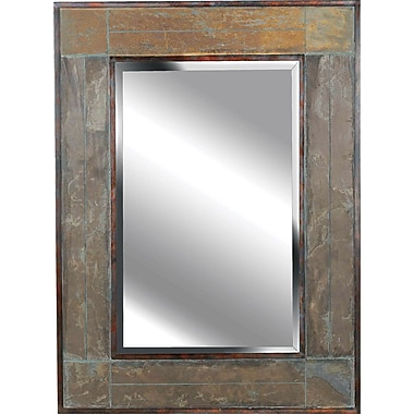 Kenroy Home White River Wall Mirror, Natural Slate Finish
