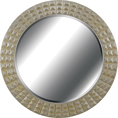 Kenroy Home Bezel Wall Mirror, Gold Gilt Finish With Silver Accents