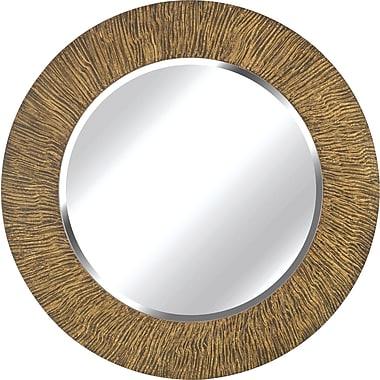 Kenroy Home Burl Wall Mirror, Striated Black and Tan Finish
