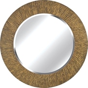Kenroy Home Burl Wall Mirror, Striated Black and Tan Finish